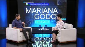 Mariana Godoy recebe o presidenciável Fernando Haddad (PT/SP)