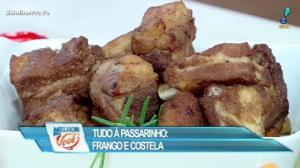 Edu Guedes ensina receita de frango e costela à passarinho