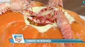 Edu Guedes ensina a fazer camarão na moranga