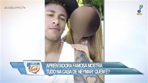 """Apresentadora bonitona visita a casa de Neymar: """"Não quero ir embora"""""""