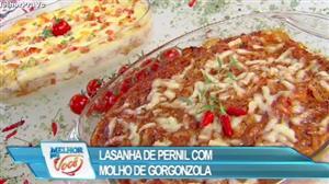 Edu Guedes ensina a fazer lasanha de pernil com molho gorgonzola