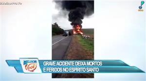 Grave acidente deixa mortos e feridos no Espírito Santo