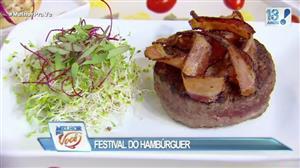 Edu Guedes faz festival do hambúrguer e ensina truques
