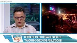Queda de toldo durante show deixa fãs assustados no Rio de Janeiro