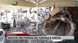Terremoto deixa mais de 500 feridos na Turquia e Grécia