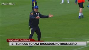 13 técnicos já foram trocados neste Brasileirão
