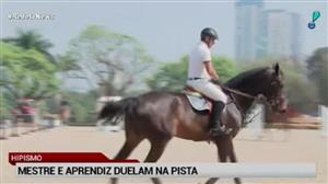Mestre e aprendiz duelam na pista do evento indoor na Hípica Paulista