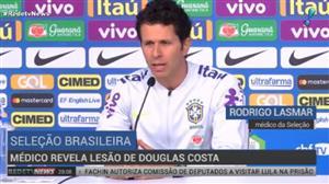 Médico da seleção revela lesão de Douglas Costa