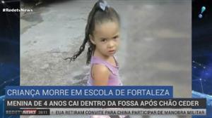 Menina morre ao cair em fossa enquanto brincava em Fortaleza