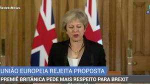 Premiê britânica pede respeito a representantes da União Europeia