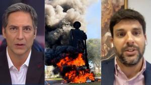 """Lacombe e secretário comentam """"atentado"""" à estátua de Borba Gato em SP"""