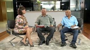 Faa Morena recebe a dupla de emboladores Caju e Castanha