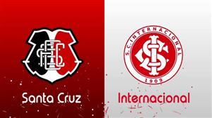 RedeTV! transmite ao vivo Santa Cruz x Internacional neste sábado (17)