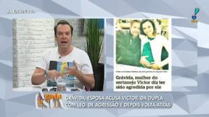 """Jornalista sobre possível agressão de Victor à mulher: """"Vale separar"""""""