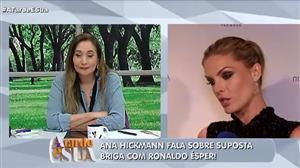 Ana Hickmann comenta suposto climão com Ronaldo Ésper
