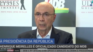 Henrique Meirelles é oficializado como candidato do MDB à Presidência