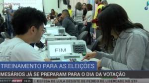 Mesários já se preparam para trabalhar no dia da votação
