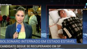Bolsonaro segue internado em estado estável