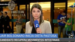 Jair Bolsonaro recupera movimentos intestinais e inicia dieta pastosa