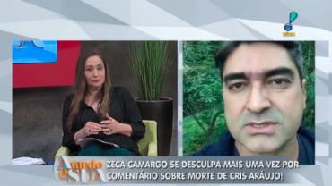 Zeca Camargo se desculpa de novo por coment�rio pol�mico de Cris Ara�jo (2)