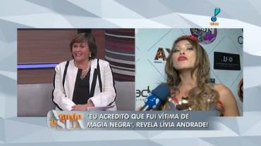 'Gosto de bater tambor, sim', dispara L�via Andrade sobre religi�o (1)