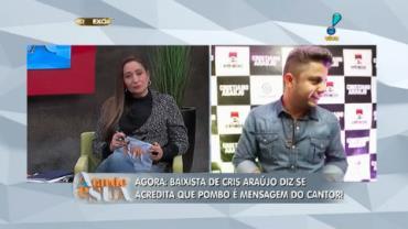 Baixista de Cris Ara�jo acredita que pombo pode ser mensagem do cantor (2)