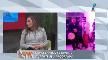 Silvio Santos canta 'Saudosa Maloca' em festa (7)