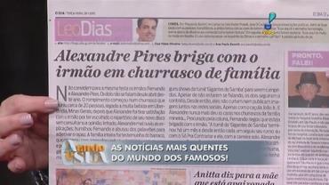 Barraco em fam�lia: Alexandre Pires briga com o irm�o em churrasco (6)