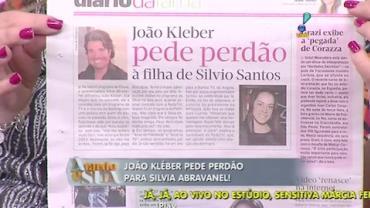 Jo�o Kleber pede perd�o para Silvia Abravanel (1)