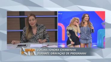 Joelma ignora Chimbinha e chora em grava��o de programa (2)