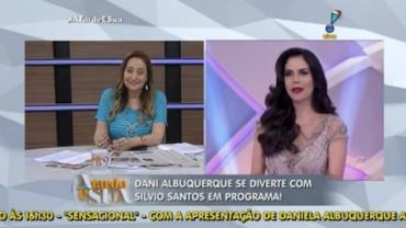 Daniela Albuquerque participa do programa de Silvio Santos ( 5)