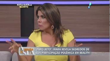 Reality exigiu que Mara Maravilha n�o se comportasse com fanatismo