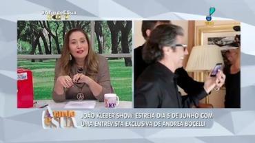Exclusivo: Jo�o Kleber � recebido na casa de Andrea Bocelli (2)