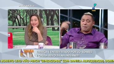 Sonia Abr�o sobre Tiririca na TV: