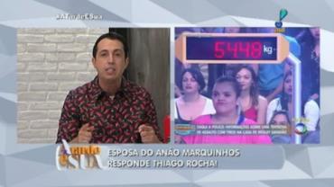 Esposa do an�o Marquinhos responde cr�tica de Thiago Rocha
