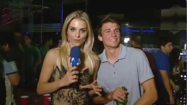 Denise Severo aproveita a noite do Panam�