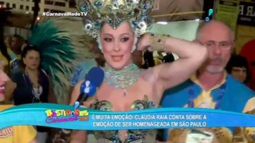 Cl�udia Raia comemora sucesso: 'Estou bombando nesse Carnaval'