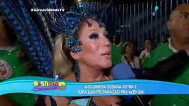 'Muito pior entrar na avenida do que subir em um palco', diz Susana Vieira