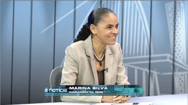 Marina Silva, pol�tica fundadora da Rede Sustentabilidade