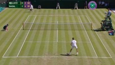 Wimbledon: Bellucci perde para Nadal por 3 a 0