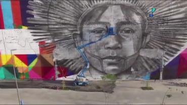 Eduardo Kobra entra para o Guinness Book ao pintar o maior mural do mundo