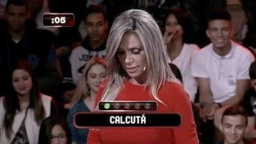Renata Banhara confunde 'Calcut�' com 'calcular' no Mega Senha