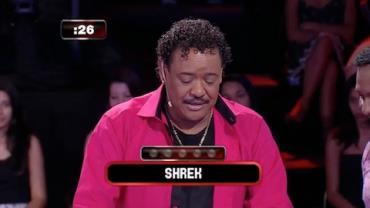 Compadre Whashington do '� o Tchan' confunde Shrek com sheik no Mega Senha