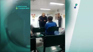 Policial agride paciente em posto de atendimento m�dico do Guaruj�