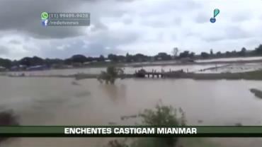 Enchentes castigam Mianmar e mata ao menos 27 pessoas