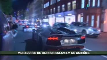 Moradores de Londres reclamam do tr�nsito de carros de luxo