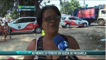 Passarela desaba e deixa mais de 20 feridos no RJ