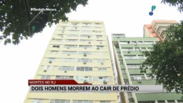 Dois homens morrem ao cair de pr�dio no Rio