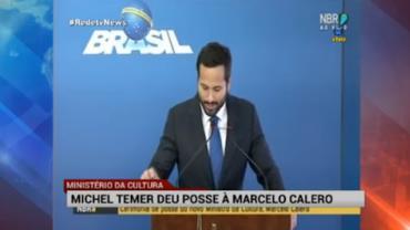 Temer d� posse a Marcelo Calero na Cultura