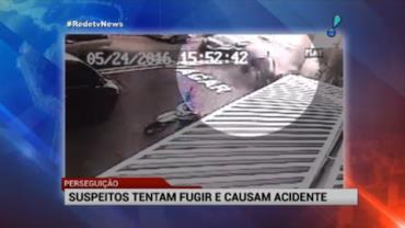 Suspeitos tentam fugir e causam acidente em SP